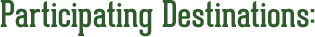 Participating Destinations