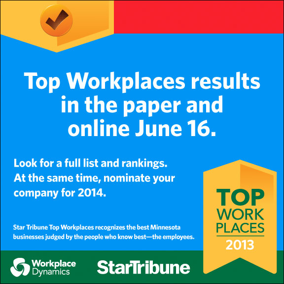 Nominate your company for Star Tribune Top Workplaces 2014
